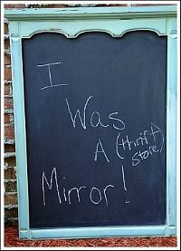Replace frame backing with a chalk board.
